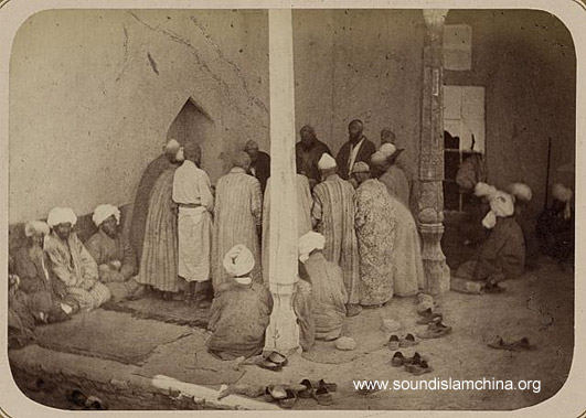 Loud recitation (dhikr-i jahrī), Turkestan, 1860-70s (Turkestanskii Al'bom. Part 2, vol. 1, pl. 65, no. 183)